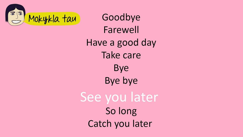 atsisveikinimai