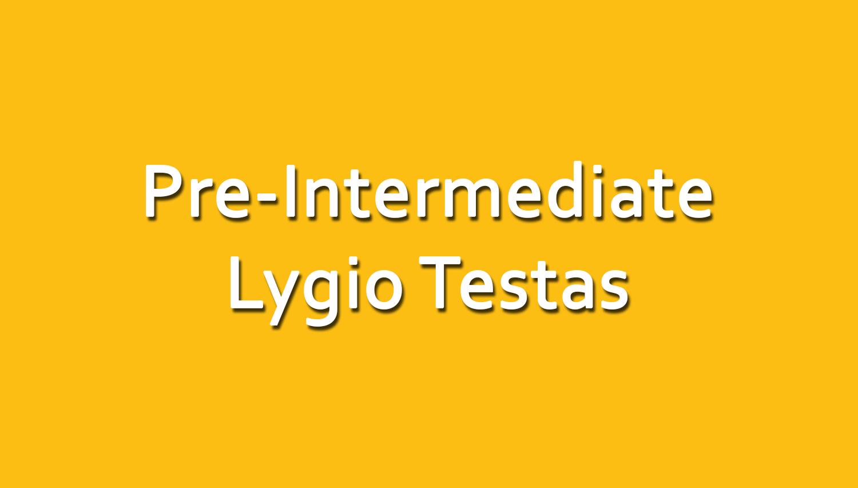 Anglų Kalbos Pre-Intermediate Lygio Testas